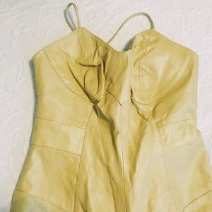 Vintage 90s gold leather bodycon catsuit